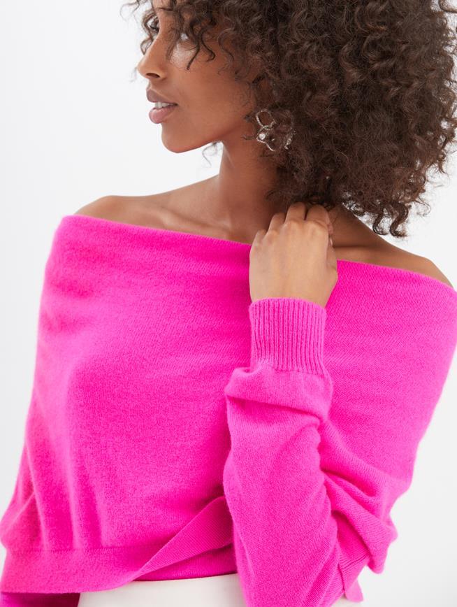 Cashmere Pullover Shocking Pink