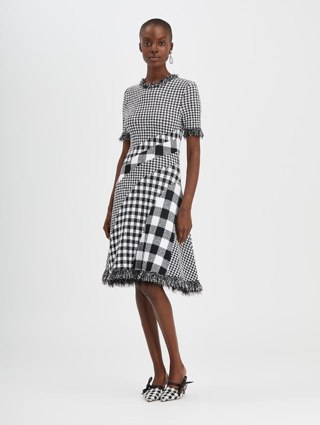 Checked Dress Black/White