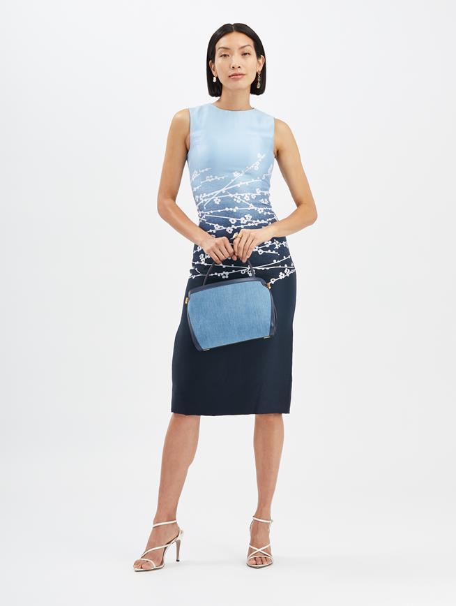 Dégradé Jacquard Dress Indigo