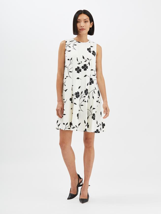 Floral Silhouette Dress Ivory