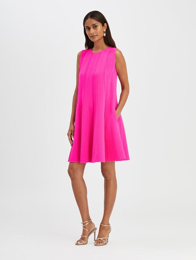 Pleated Dress Shocking Pink