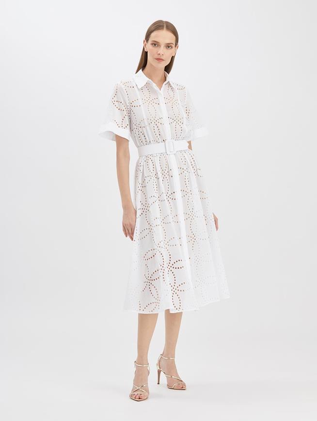 Eyelet Shirtdress White