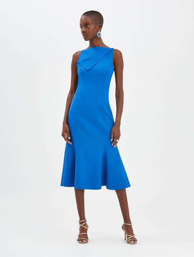 Flared Dress Azure