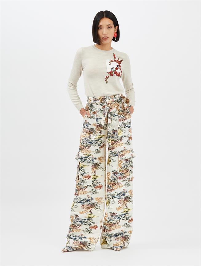 Fil Coupé Cargo Pants Ivory