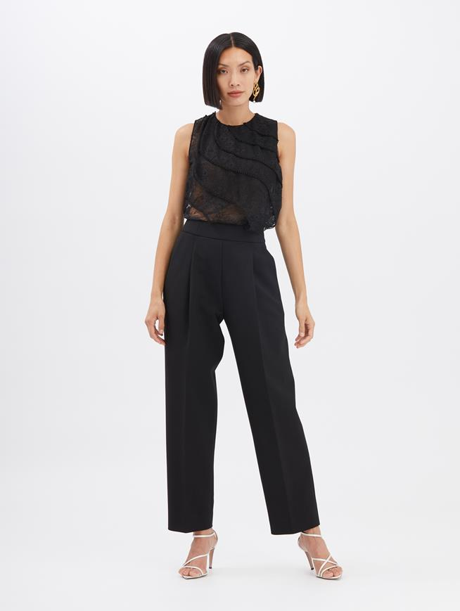Straight-Leg Pants Black