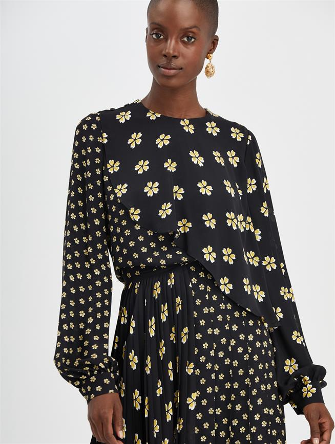 Blossom Chiffon Blouse Black Multi