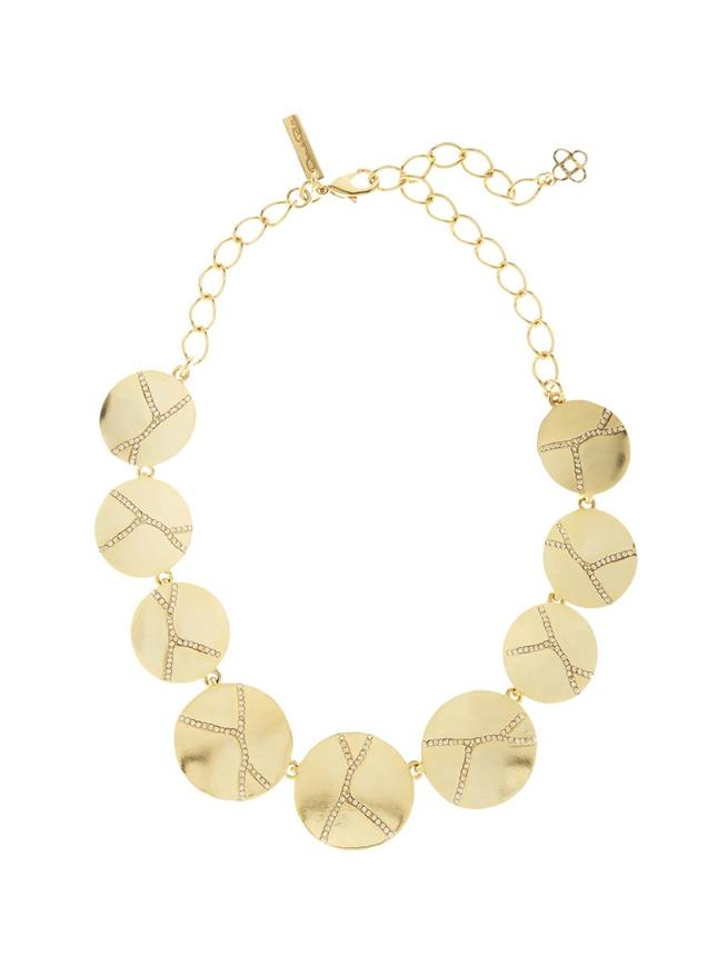 Pavé Kintsugi Necklace Gold