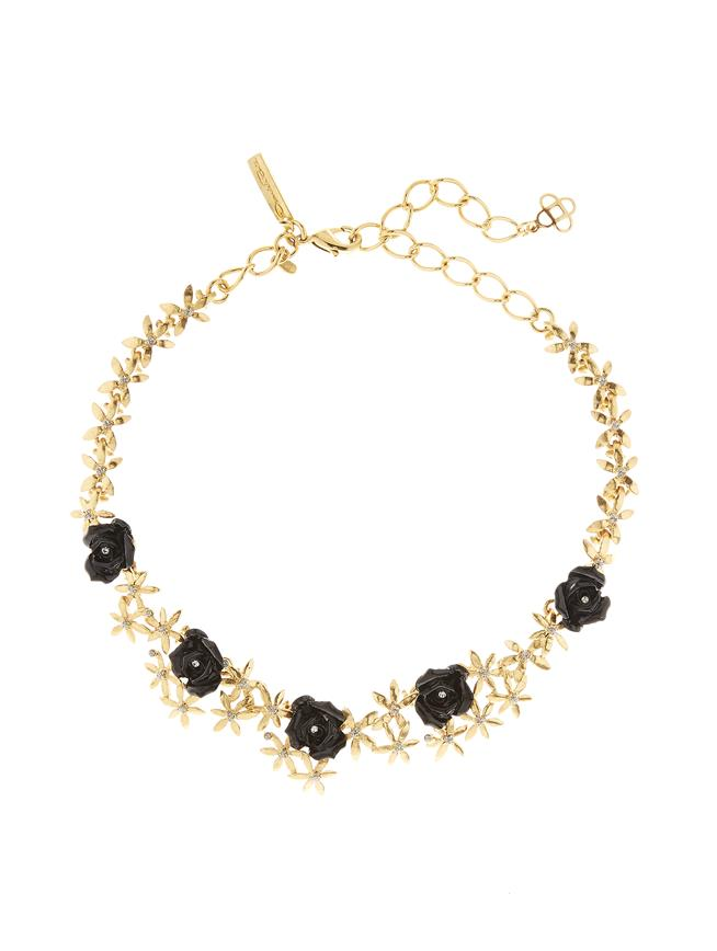 Rose Necklace Black