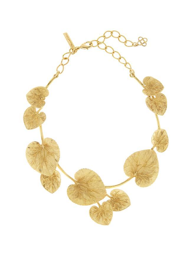 Eucalyptus Necklace Gold