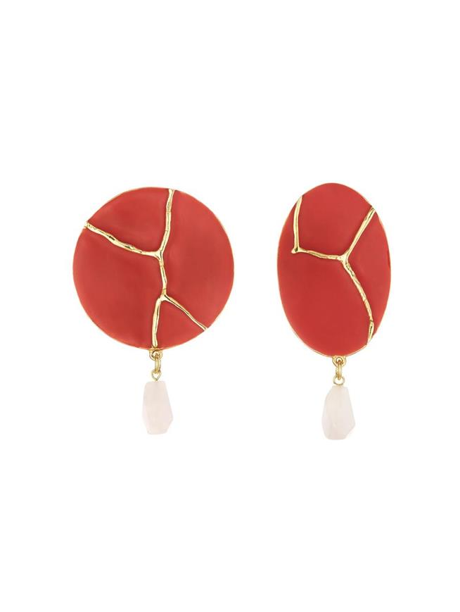 Kintsugi Earrings Poppy