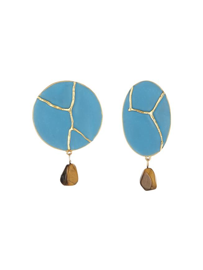 Kintsugi Earrings Turquoise