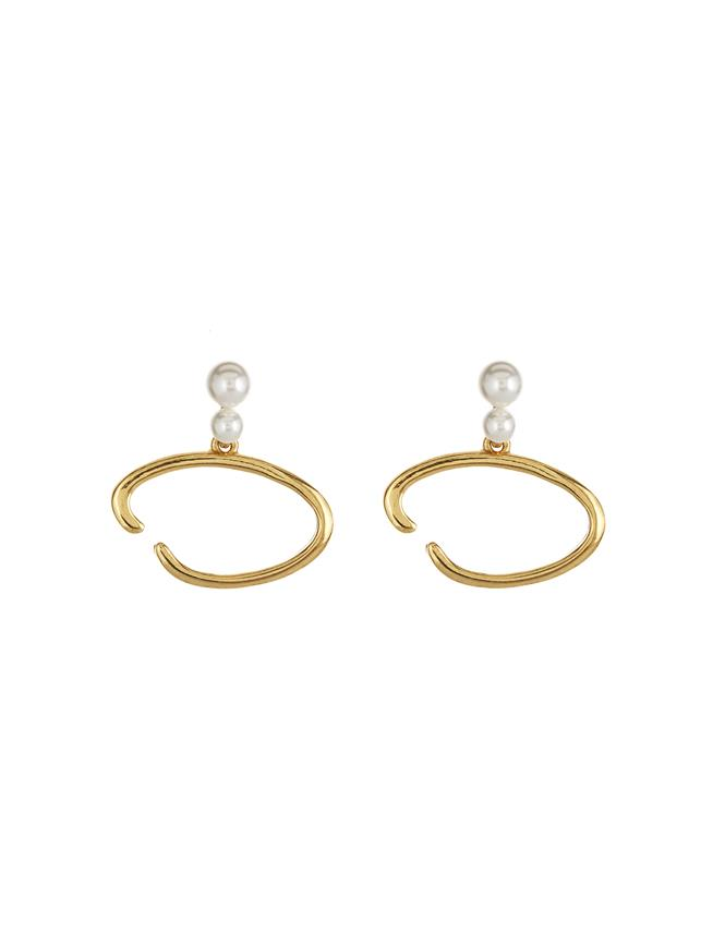 O Logo Earrings Gold