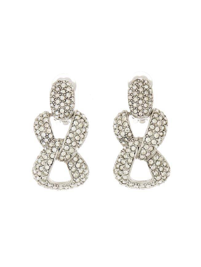 Pavé Chain Earrings Crystal
