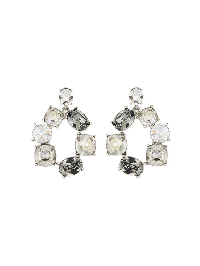 Bold Crystal Earrings Crystal Multi