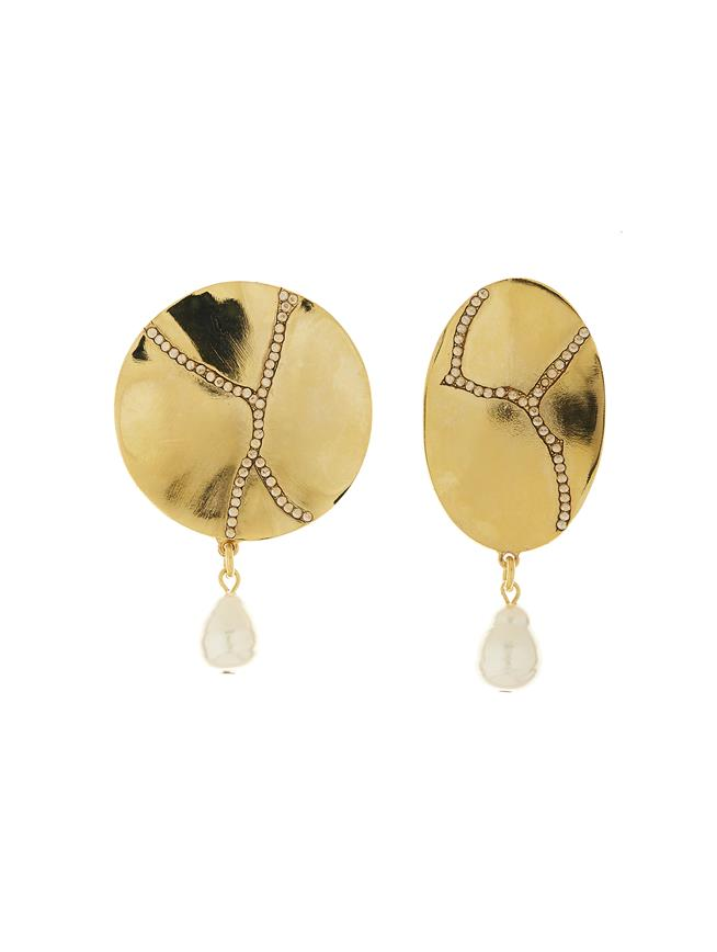 Pavé Kintsugi Earrings Gold