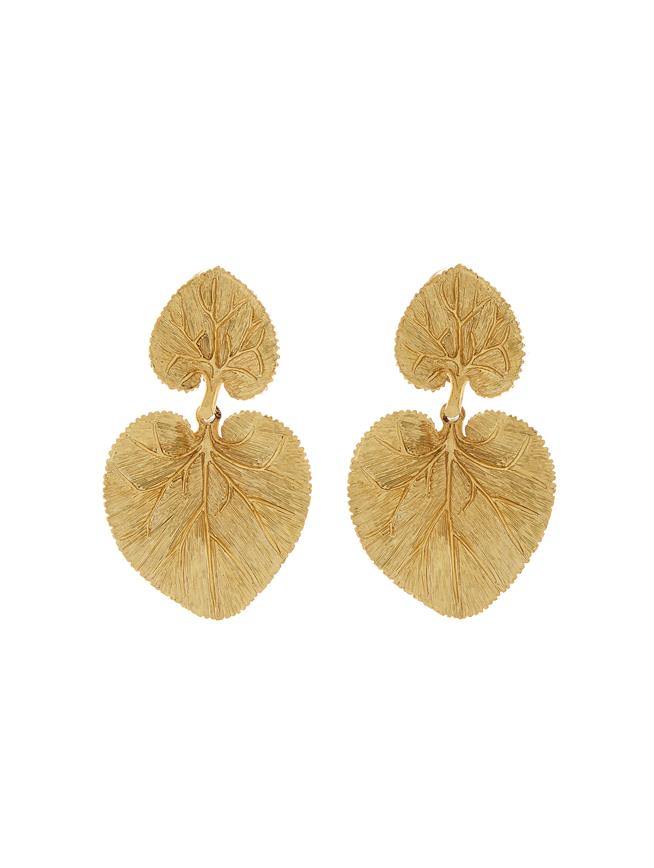 Eucalyptus Earrings Gold