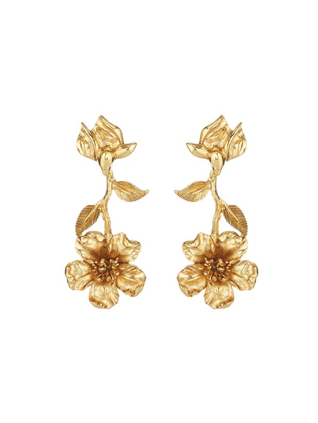 Flower Earrings Gold