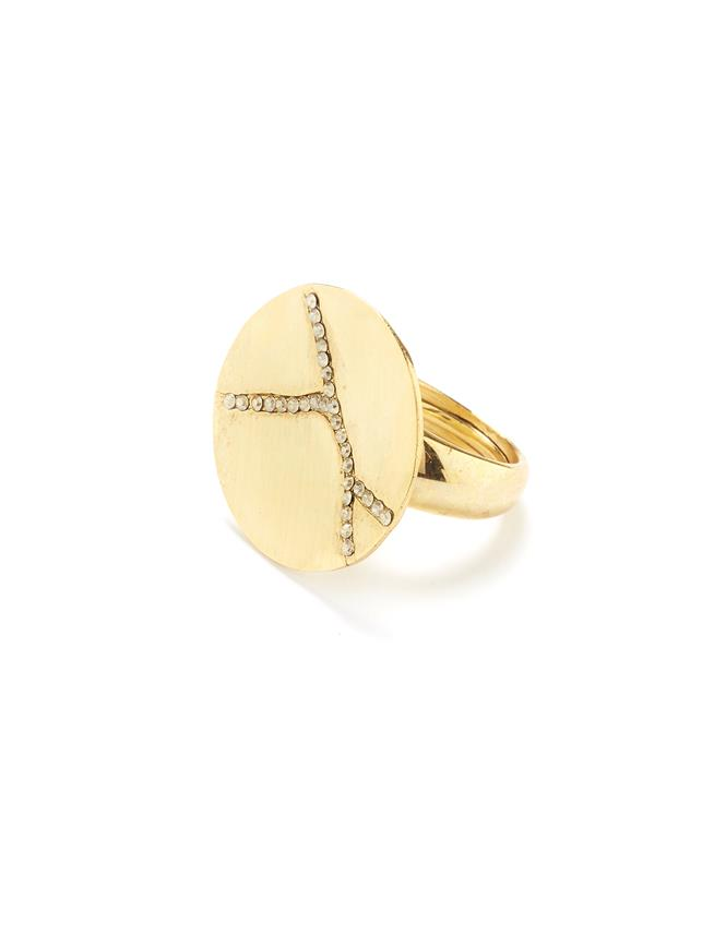 Pavé Kintsugi Ring Gold