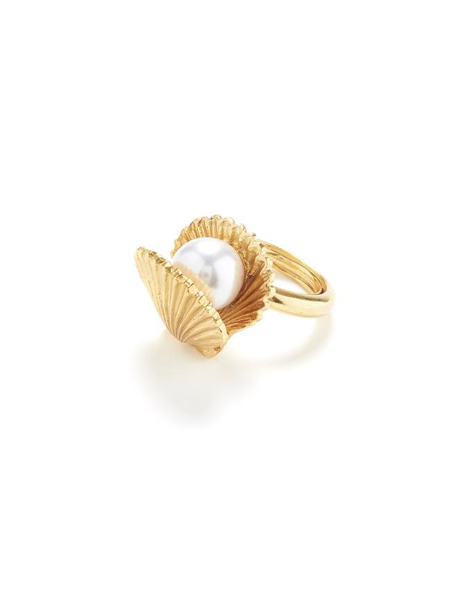 Clam Ring Gold
