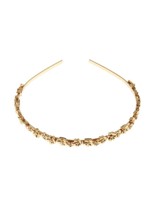 Flower Headband Gold