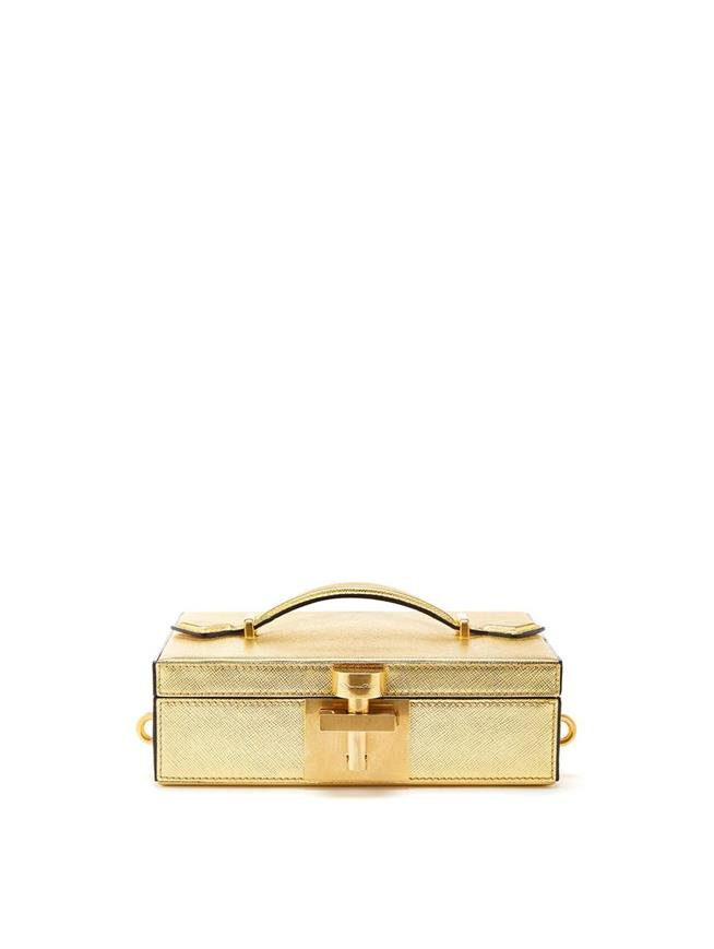 Gold Alibi Clutch Light Gold