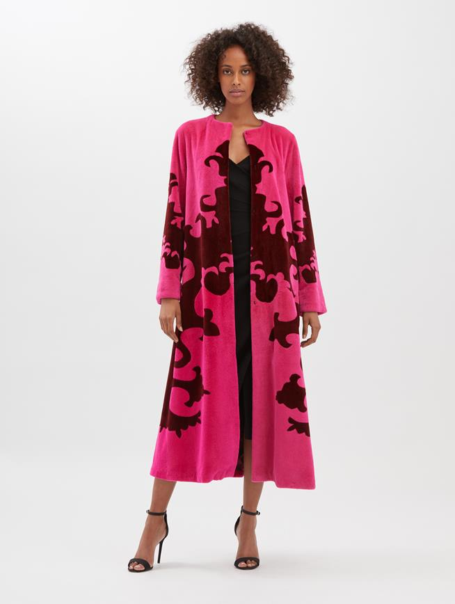 Mink Coat Hot pink and claret