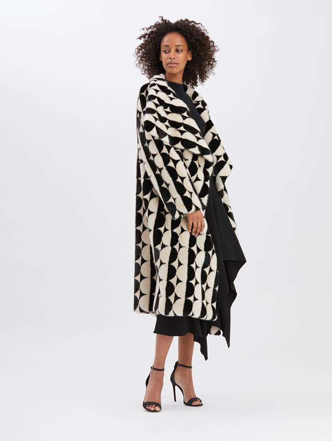 Mink Coat Black and white