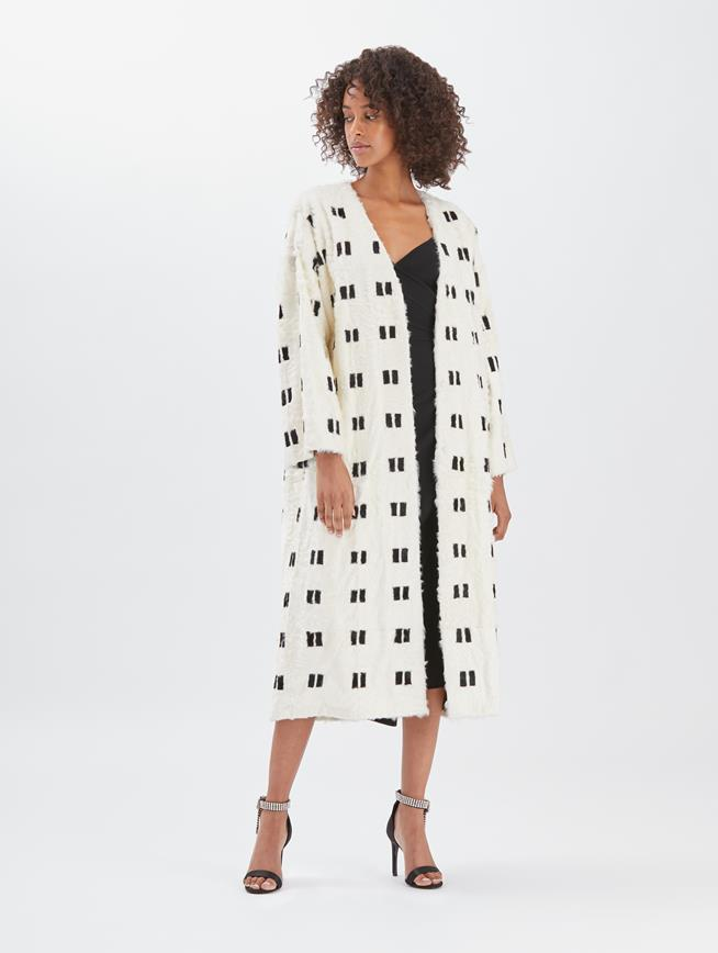 Lamb Coat White and black