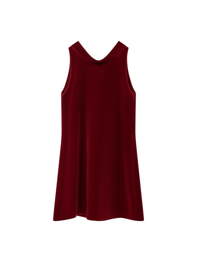 Velvet Dress Red