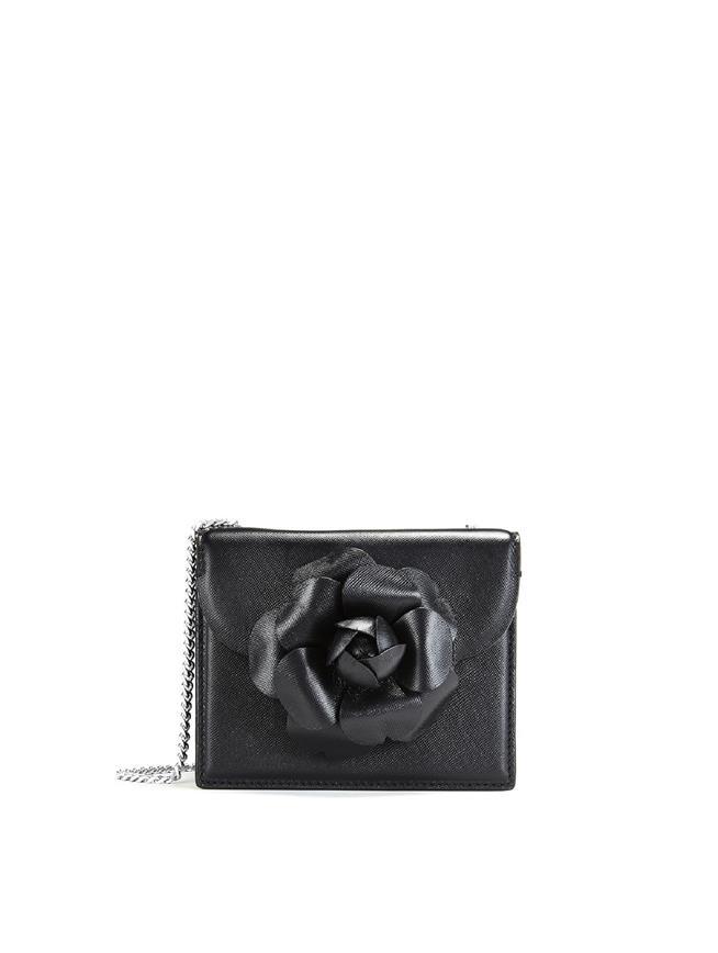 Black Leather Mini Tro Bag Black