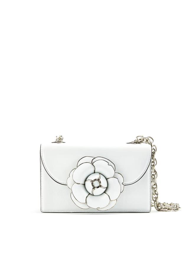 White Leather TRO Bag