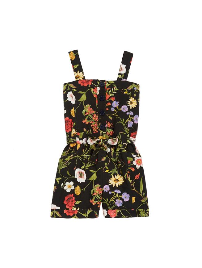 Botanical Romper Navy Multi