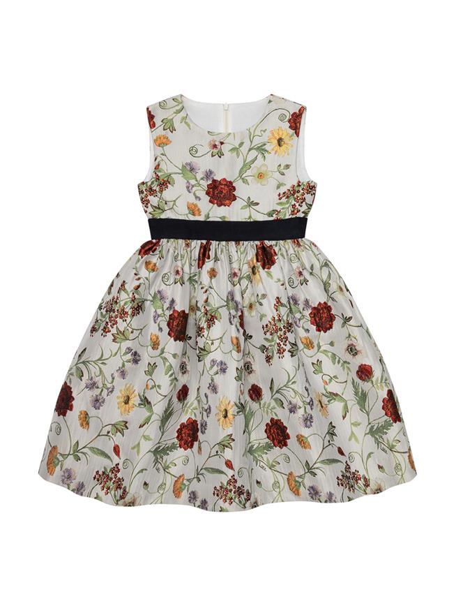 Jacquard Dress Ecru Multi