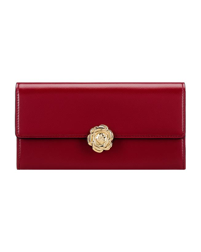 Red Continental Wallet Red