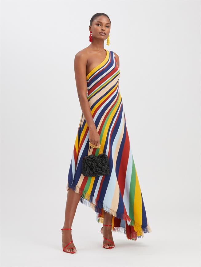 Striped Knit Dress Multi