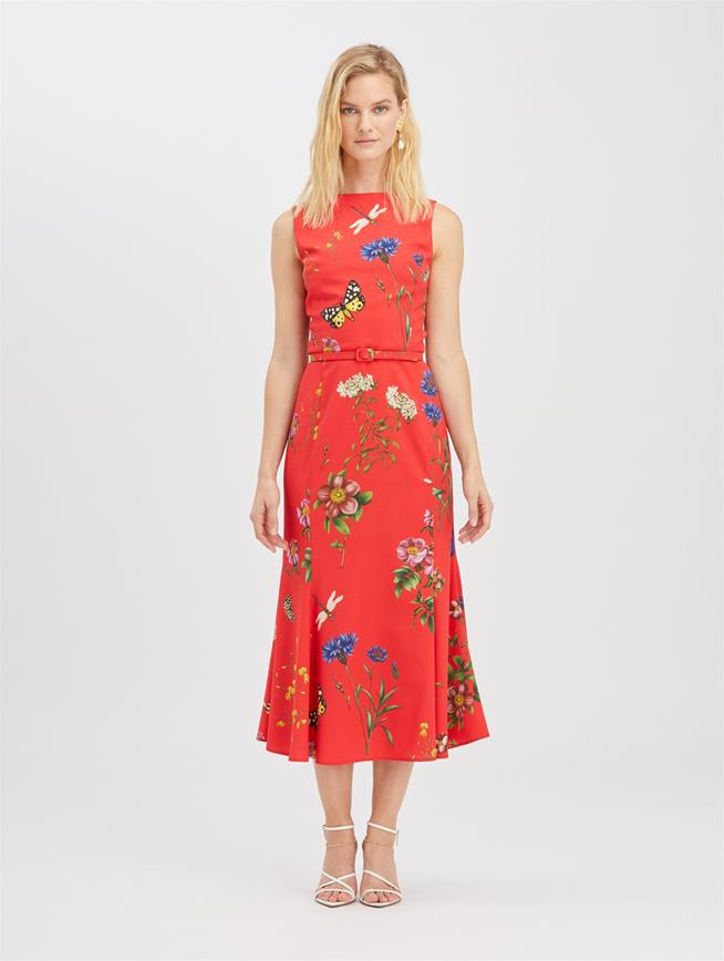 Botanical Garden Dress Scarlet