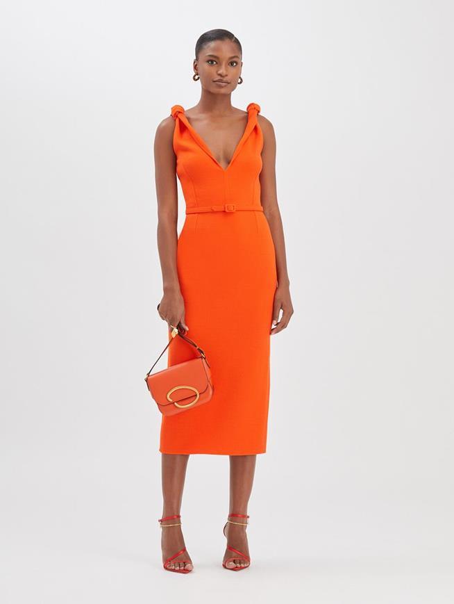 Pencil Dress Burnt Orange