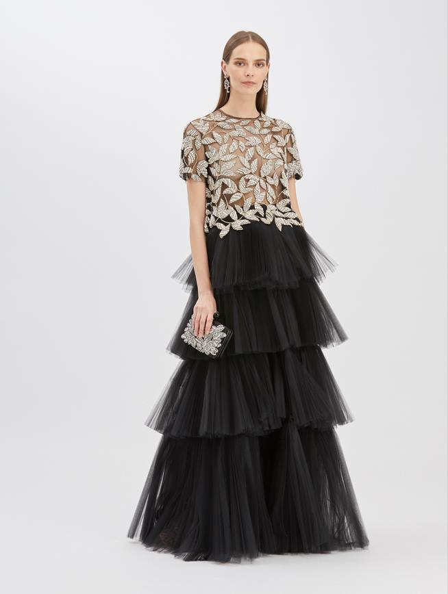 Tiered Tulle Skirt Black