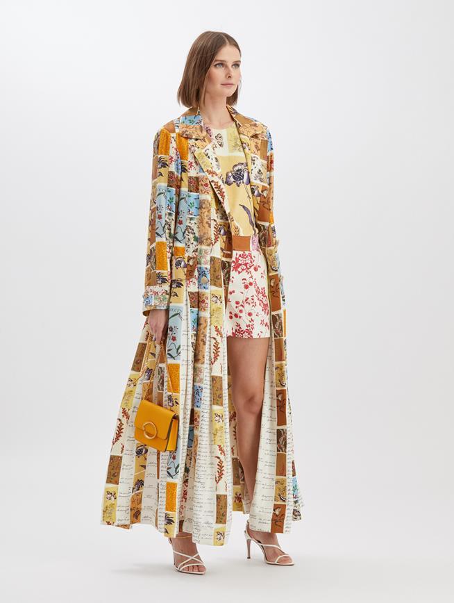 Swatch Book Silk Coat Ecru Multi