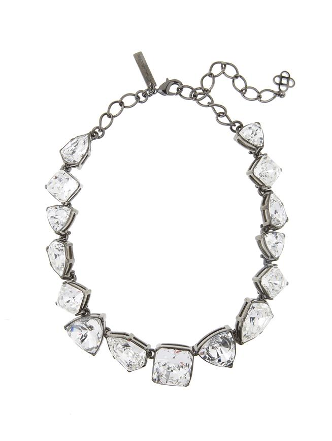 Gallery Crystal Necklace Cry Shade/Silvr