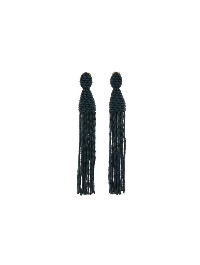 Long Tassel Earrings Peacock