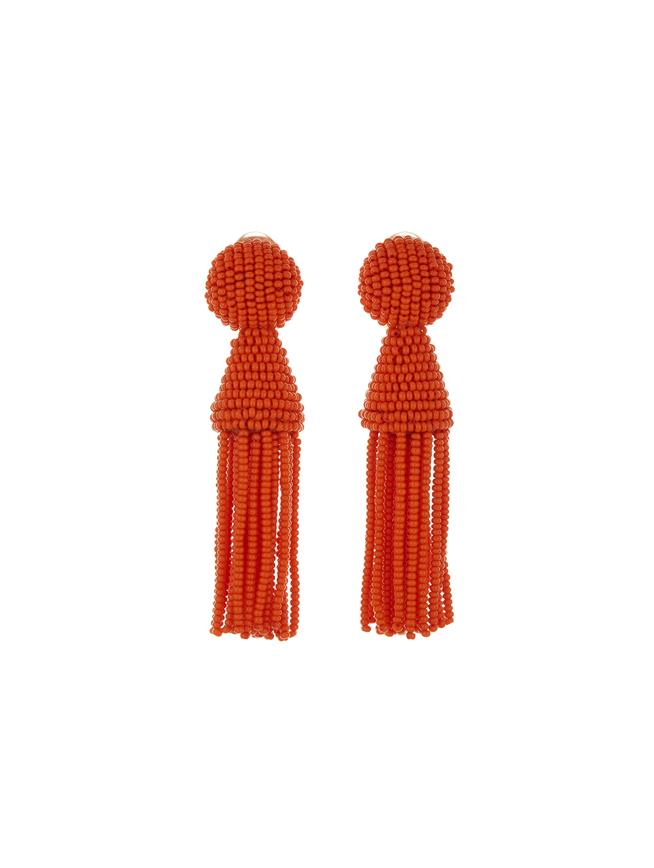 Short Tassel Earrings Burnt Orange