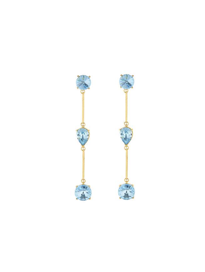 Crystal Drop Earrings Aquamarine
