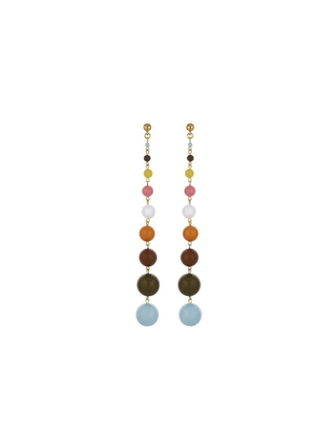 Bead Drop Earrings Multi