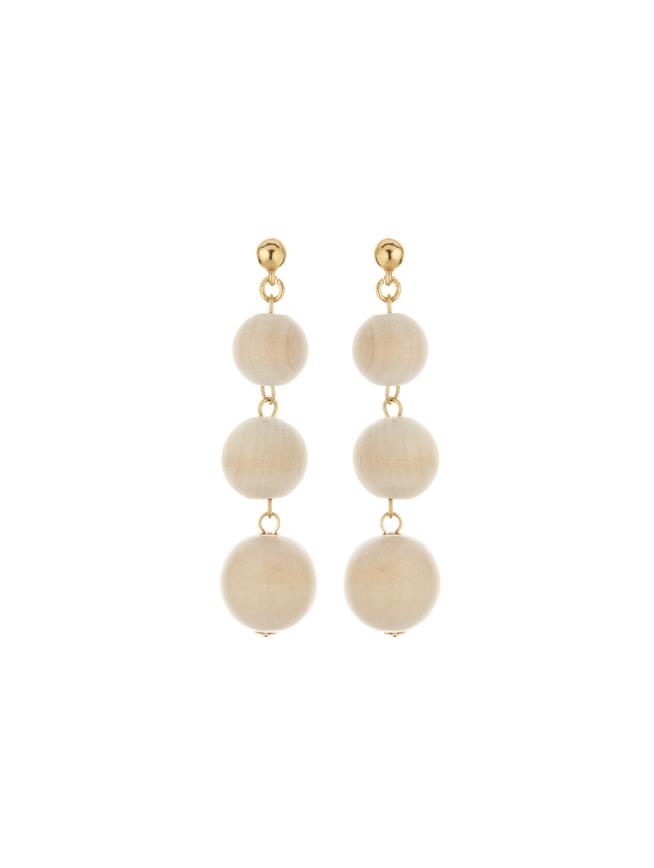 Bead Drop Earrings Natural