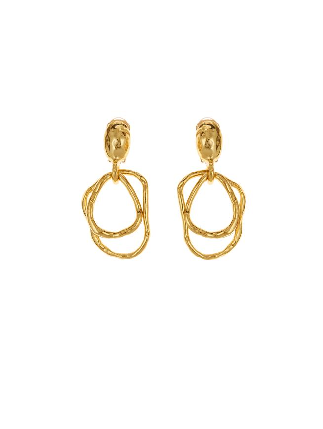 Hammered Earrings Gold