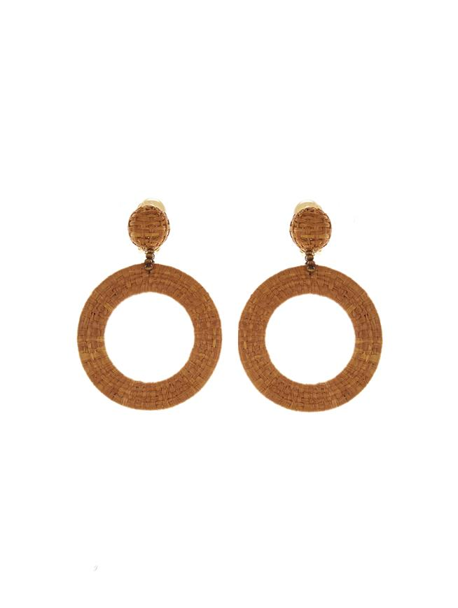 Tan Hoop Earrings Tan