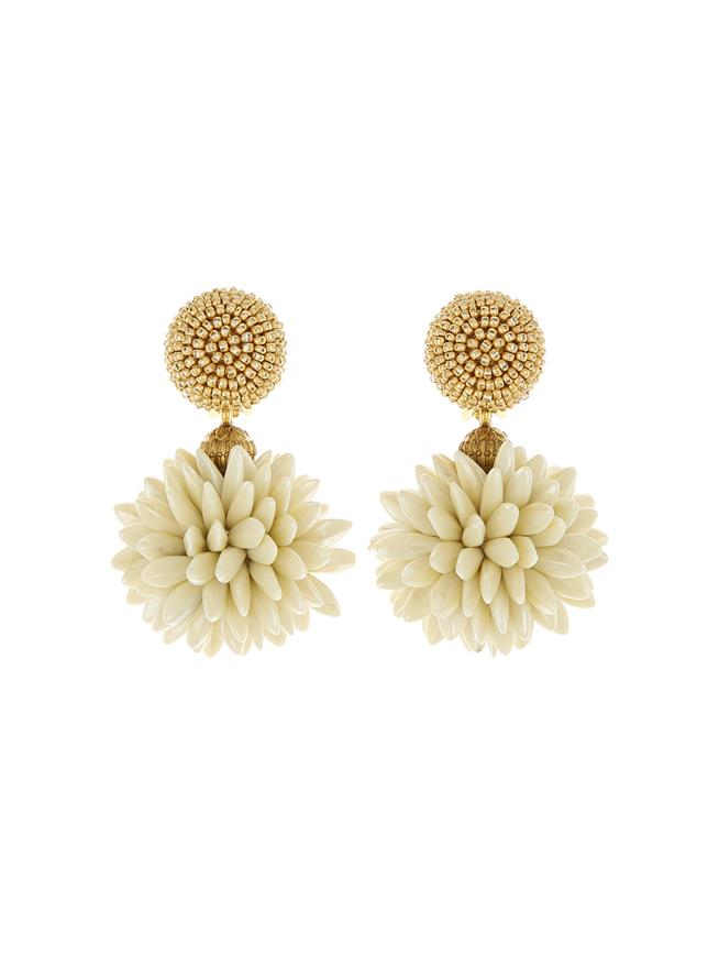 Cluster Earrings Gold/Ivory