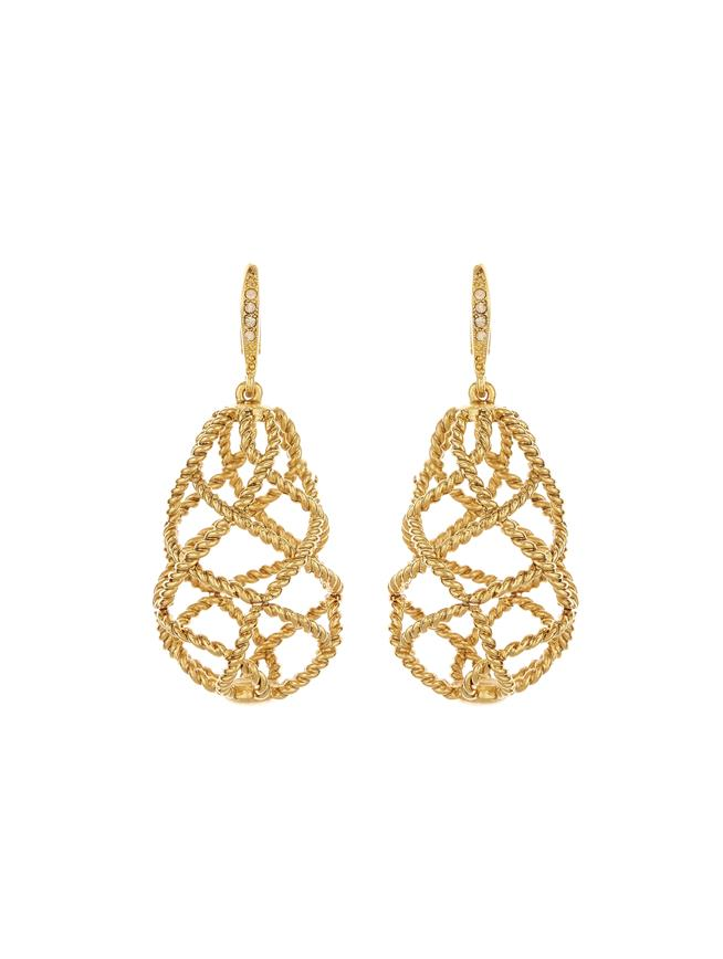 Woven Earrings Gold