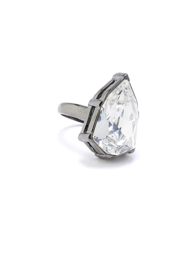 Gallery Crystal Ring Cry Shade/Silvr